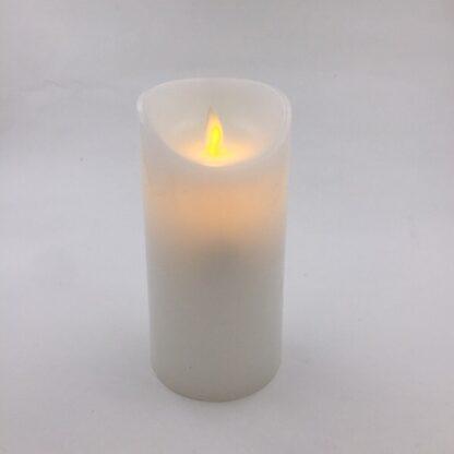 LED stearinlys 15 cm stor blafrende flamme tilbud