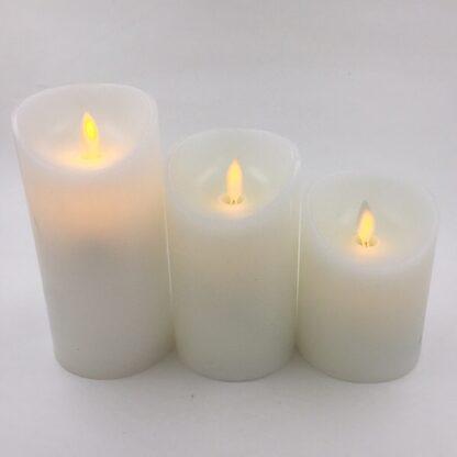 Lyssæt LED med blafrende flamme