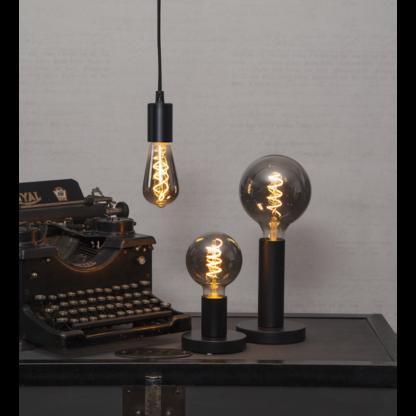 Røgfarvet serie LED, globe og Edison pærer