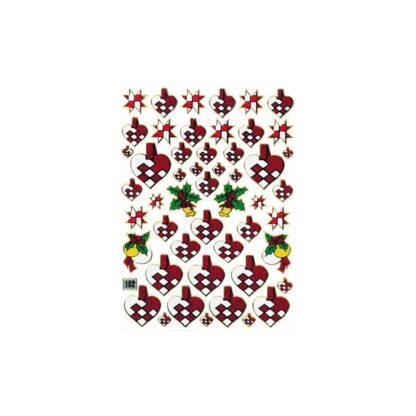 Stickers julehjerter