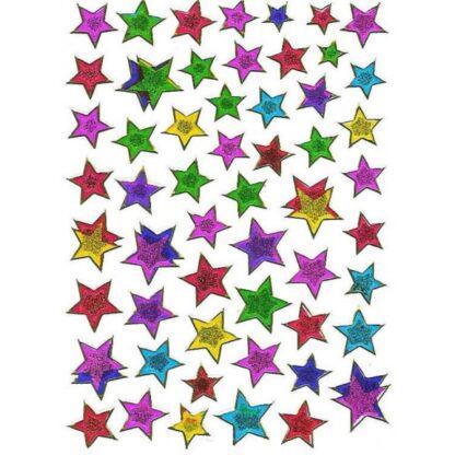 Stickers multifarvede stjerner
