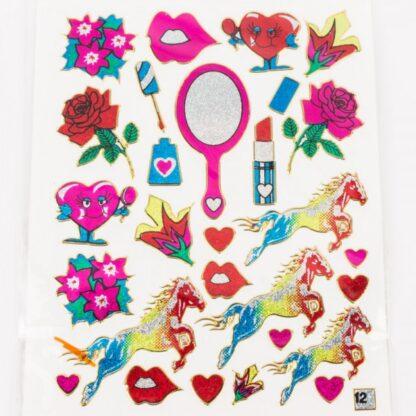 Stickers roser og pigeværelse