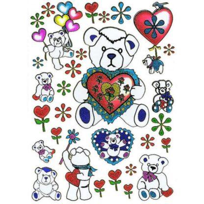 Stickers kærlig bamse