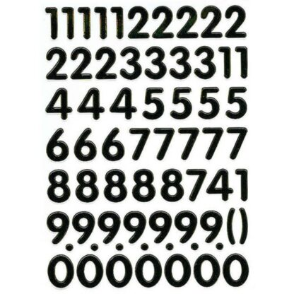 Stickers tal guld og sort