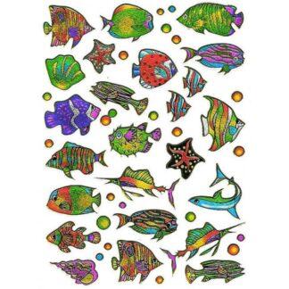 Stickers eksotiske fisk
