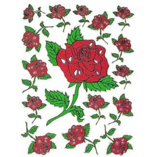 Stickers roser store og små