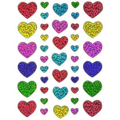 Stickers hjerter multifarvede