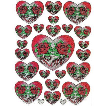 Stickers hjerte rose love