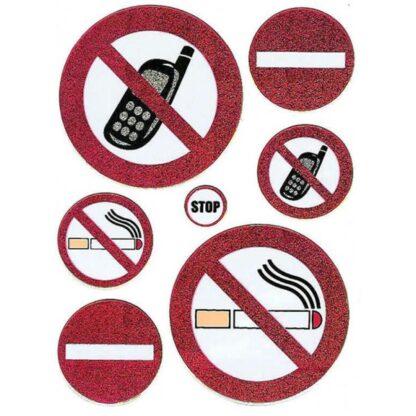 Stickers Danske forbudsskilt