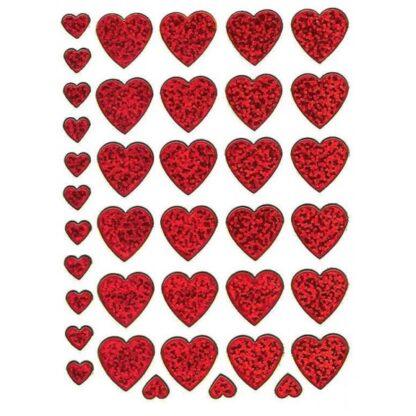 Stickers røde hjerter romantiske tilbud