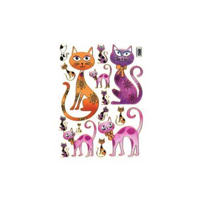 Stickers kat med sløjfe