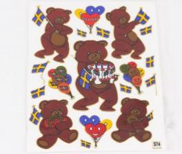 Stickers bamser fest sverige tilbud