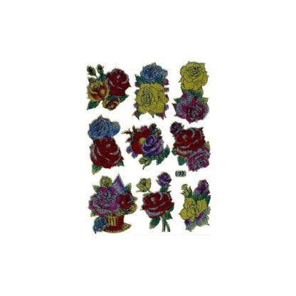 Stickers multifarve roser