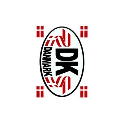 Stickers DK skilt