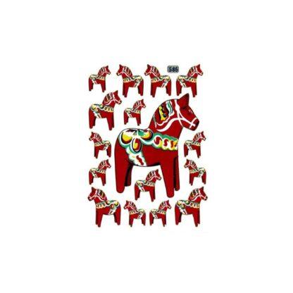 Stickers Dala hest svensk træhest