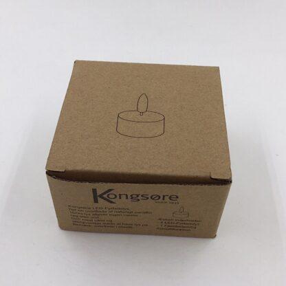 Indpakning til 4 fyrfadslys Kongsøre