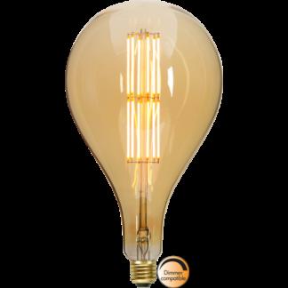 LED pære e27 Industrial Vintage 29 cm høj Edison Amber
