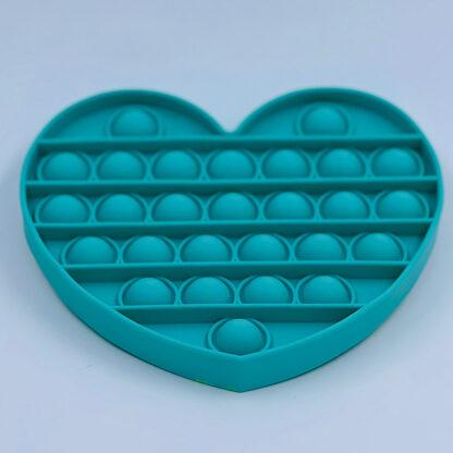 Pop it Fidget Toy antistress hjerte grøn tilbud