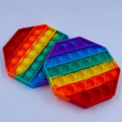 Pop it Fidget Toy Oktagon regnbuefarvet tilbud