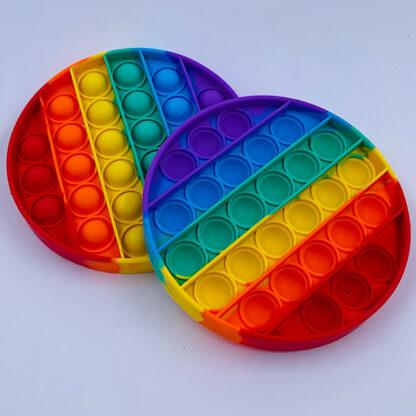 Pop it Fidget Toy Rund Regnbuefarvet Tilbud