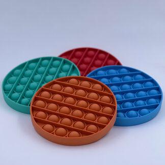 Pop it runde Pop Fidget ensfarvet Fidget Toy tilbud