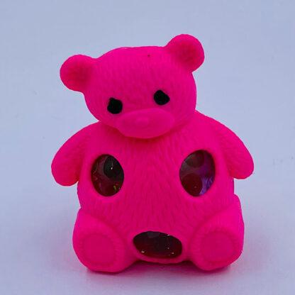 Squishy bamse pink med vandperler stressbold tilbud