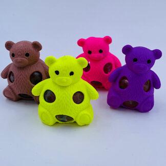 Squishy bamser fire farver med vandperler stressbold tilbud